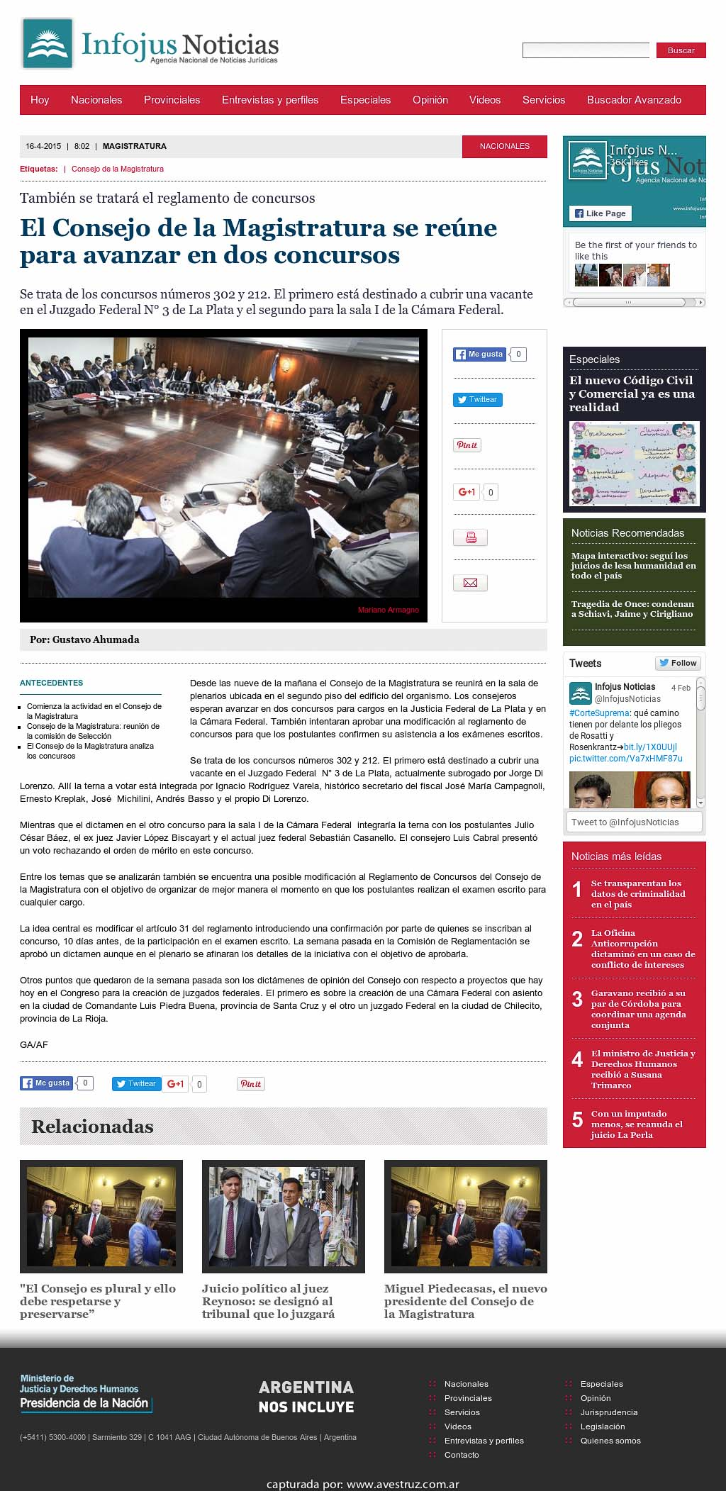 Infojus: El Consejo de la Magistratura se reúne para avanzar en dos ...